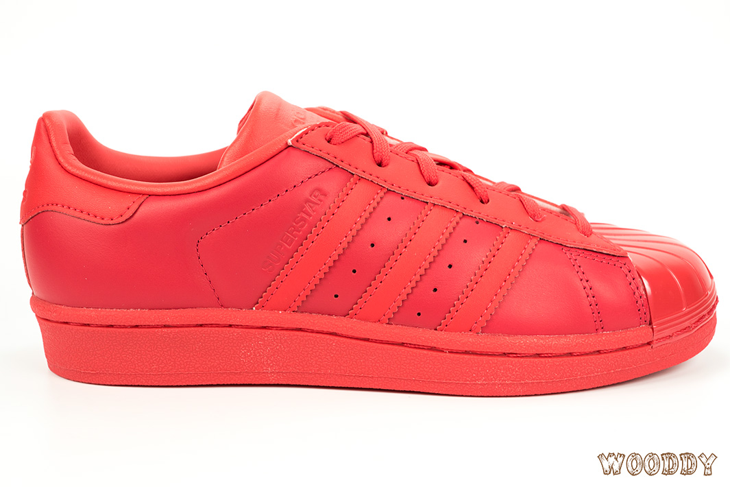 adidas Superstar Glossy Toe Rouge S76724   Wooddy